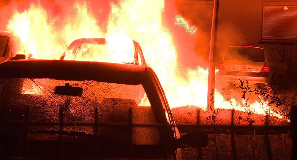Disturbios en la ciudad francesa de Nantes