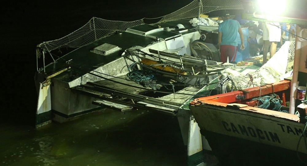 Un catamarán en Maranhão