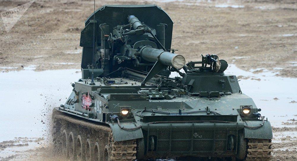 El mortero autopropulsado 2S4 Tyulpan
