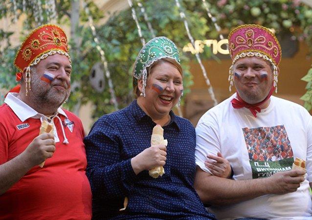El 'trío en kokóshnik'
