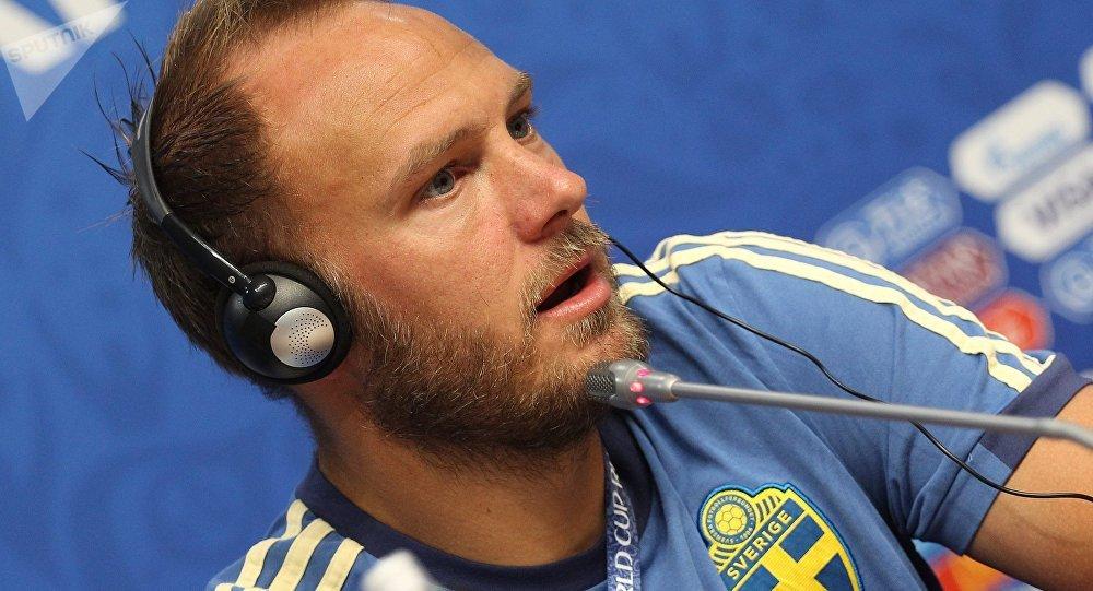 Andreas Granqvist, centrocampista de la selección sueca
