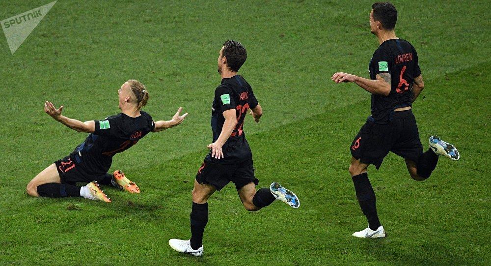 Jugadores de la selección de Croacia