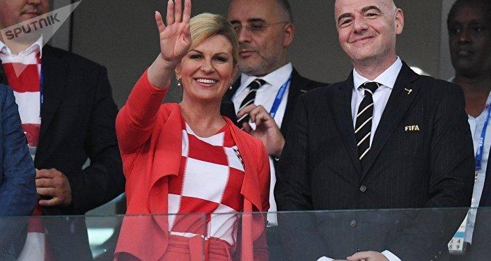 La presidenta de Croacia Kolinda Grabar-Kitarovic