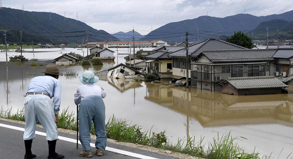 Las consecuencias de las inundaciones en Japón