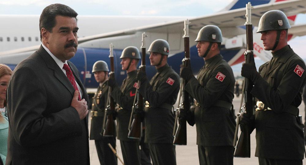Nicolás Maduro, el presidente de Venezuela, durante su visita a Turquía