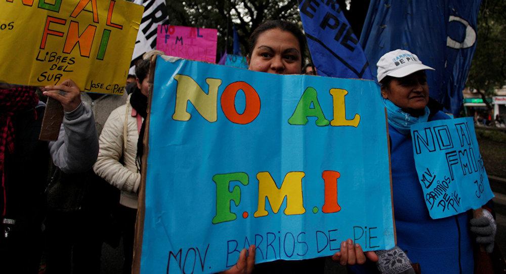Protesta en Buenos Aires, Argentina