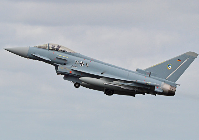 Un caza Eurofighter Typhoon (imagen referencial)