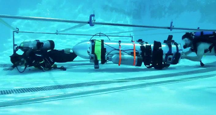El minisubmarino ofrecido por la compañía del estadounidense Elon Musk para rescatar a los niños en Tailandia