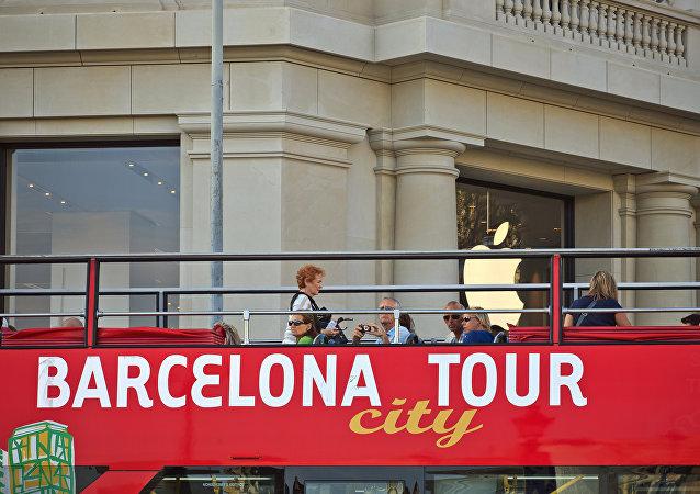 Bus turístico en Barcelona