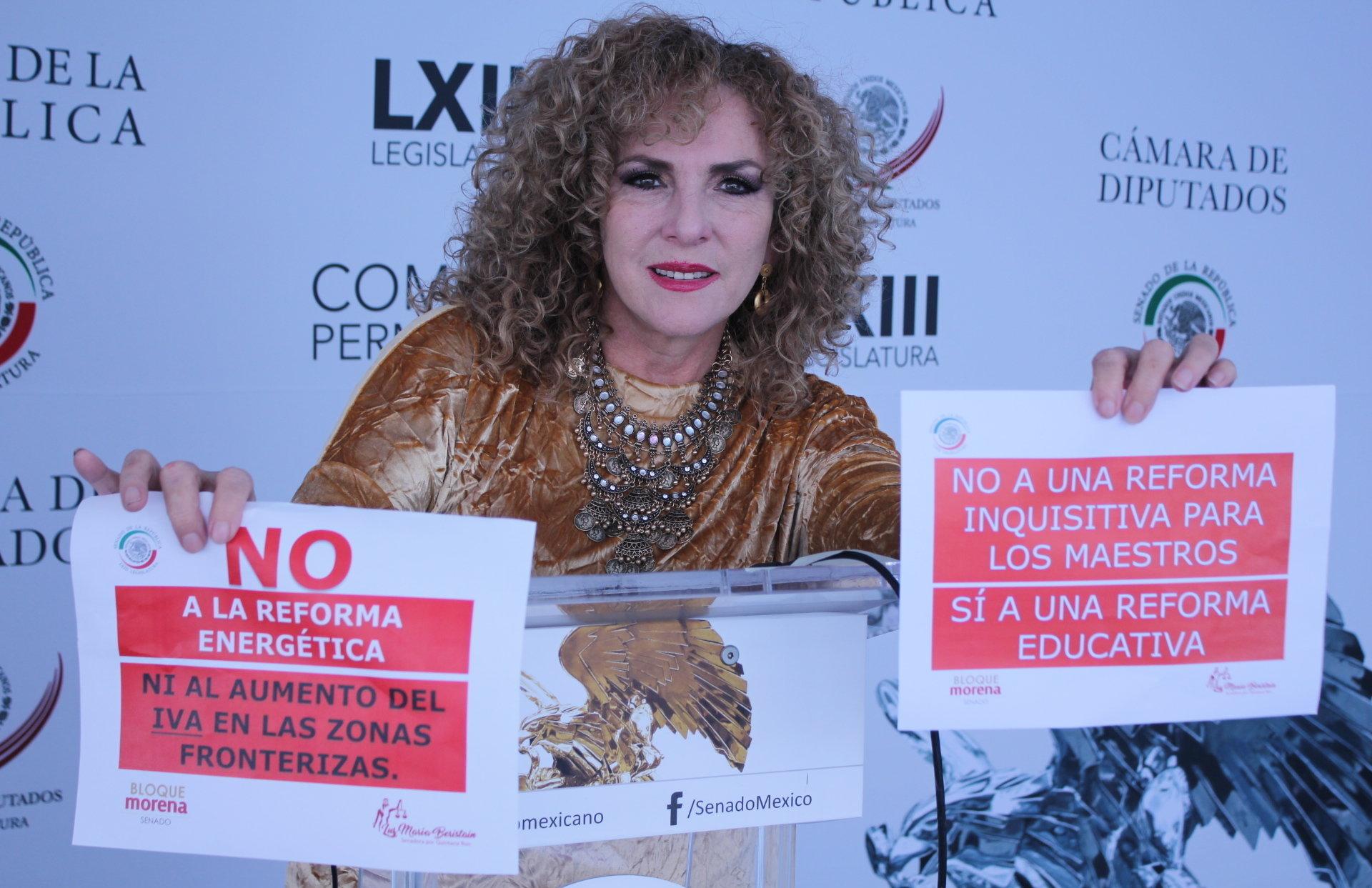 La senadora de la República de México por el estado de Quintana Roo, Luz María Beristain Navarrete