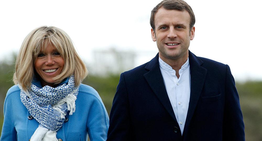 El presidente de Francia, Emmanuel Macron, y su esposa Brigitte
