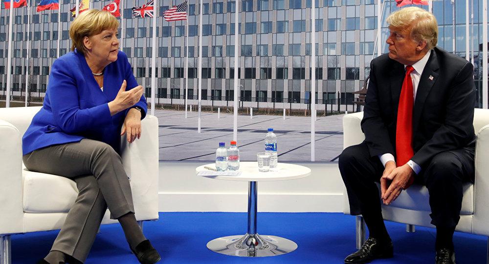 La canciller de Alemania, Angela Merkel, y el presidente de Estados Unidos, Donald Trump
