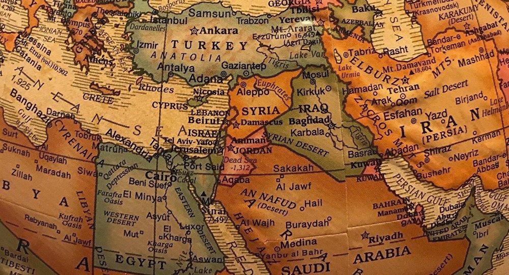 El mapa de Oriente Medio