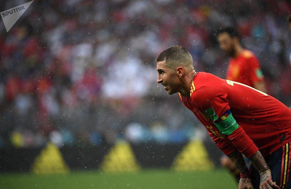 Sergio Ramos, jugador de la selección española