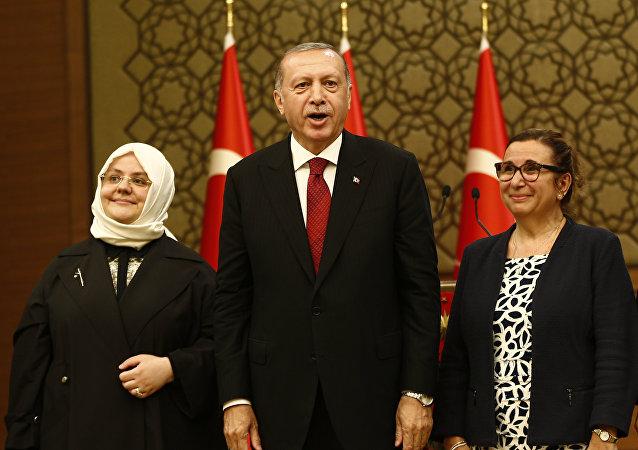 El presidente de Turquía, Recep Tayyip Erdogan, presenta a los miembros de su Gobierno, Ankara, Turquía, 9 de julio de 2018