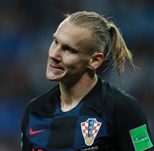 Domagoj Vida, defensa de la selección croata