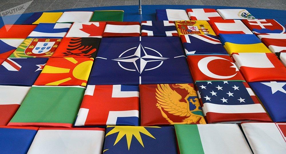 Las banderas de los países de la OTAN