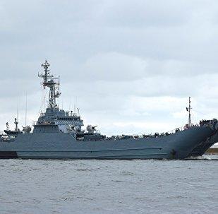 Un barco militar (imagen referencial)