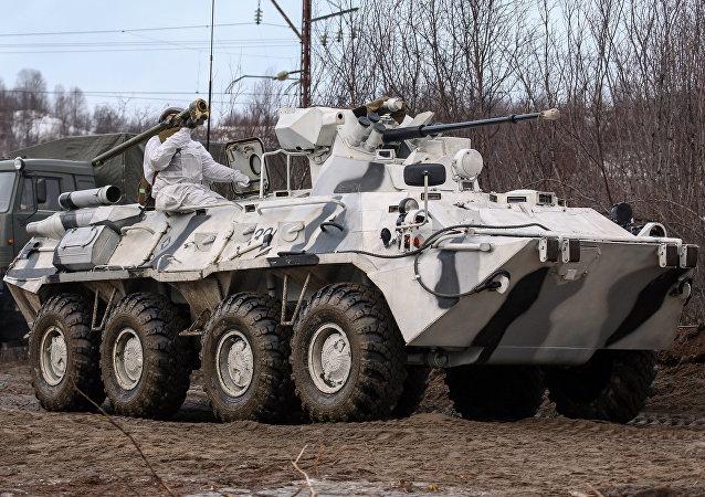 Transporte blindado BTR-82A, imagen referencial