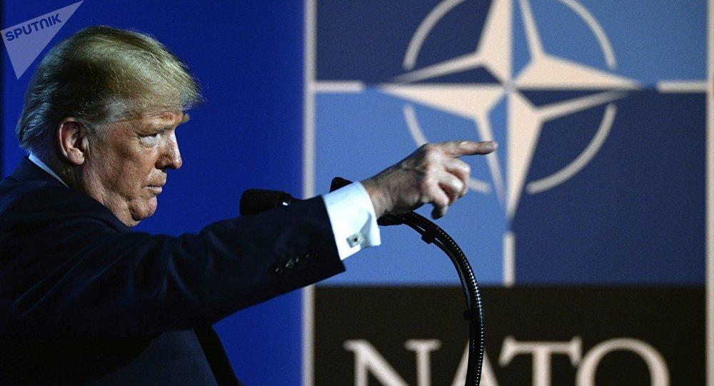 Donald Trump, presidente de EEUU durante la cumbre de la OTAN