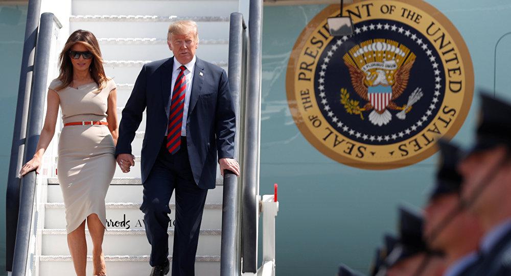 El presidente de los EEUU, Donald Trump y su esposa, Melania Trump