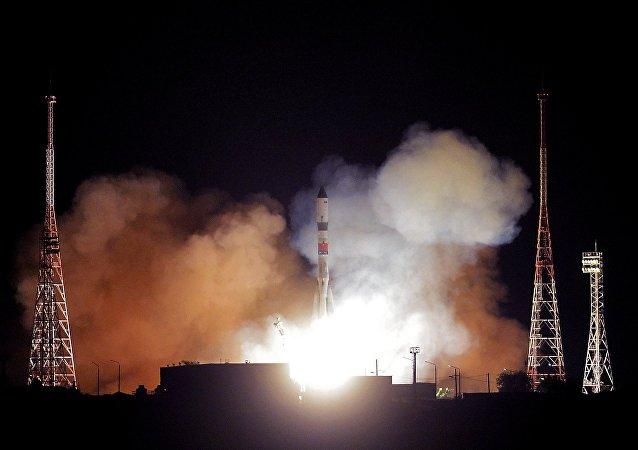 El lanzamiento del cohete Soyuz-2.1 (archivo)