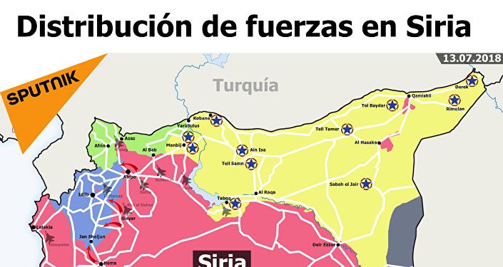La distribución de fuerzas en Siria