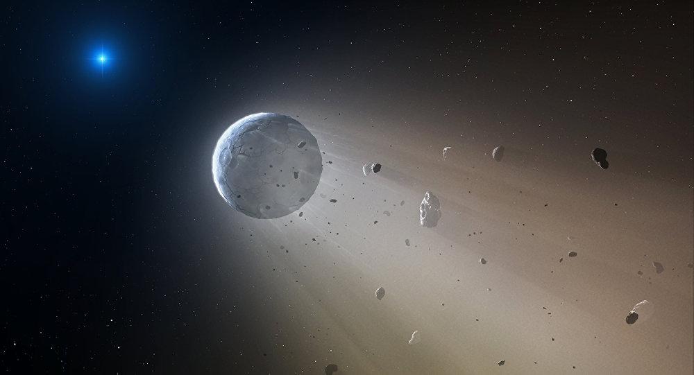 Concepción artística del asteroide