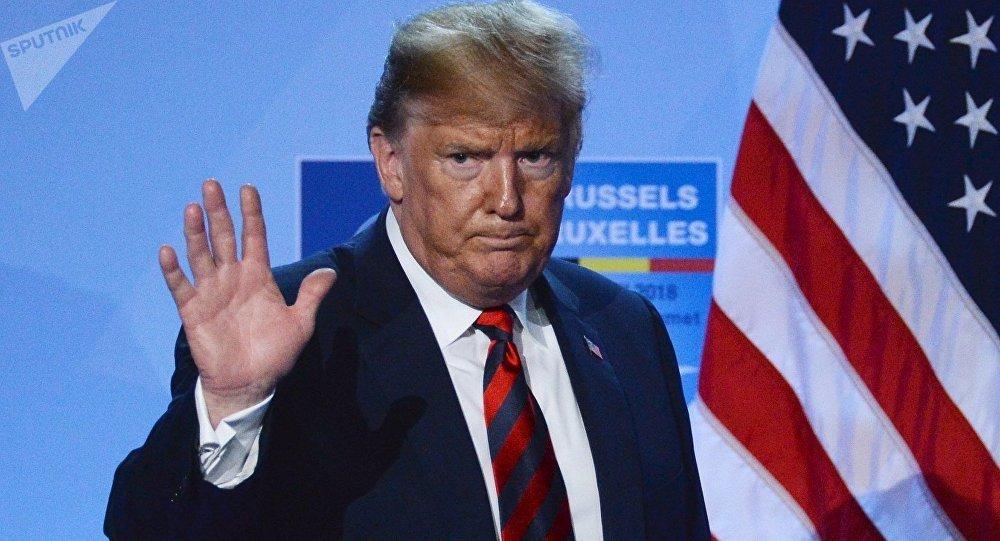 Donald Trump, presidente de EEUU, durante la cumbre de la OTAN
