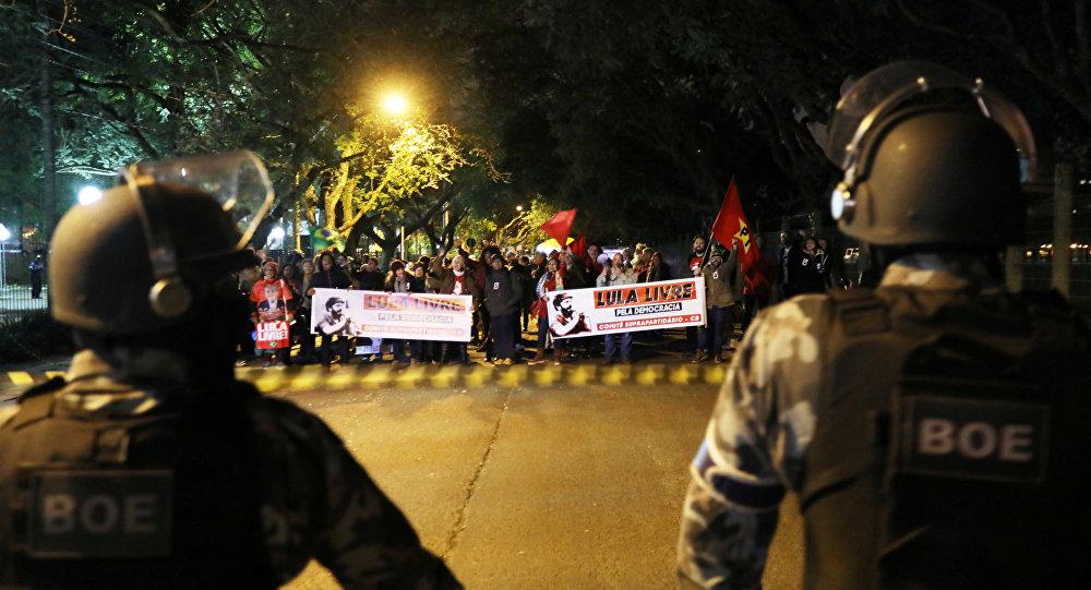 Protestas en Porto Alegre