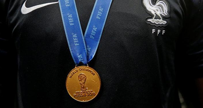 Medalla de ganador del Mundial de Rusia