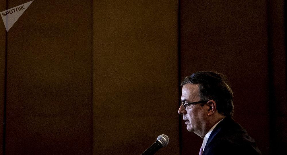 Marcelo Ebrard, jefe de la diplomacia del presidente electo mexicano Andrés Manuel López