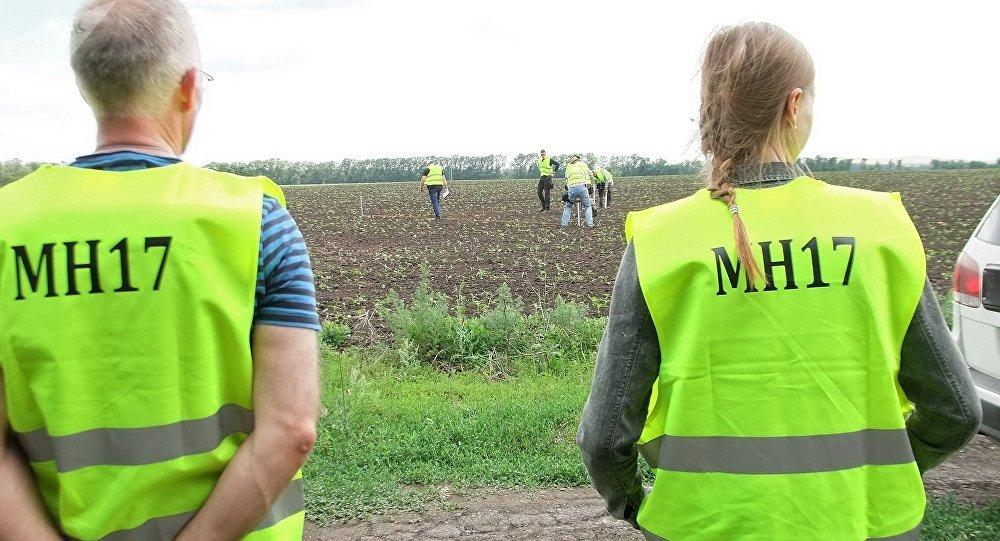 Expertos internacionales en el lugar del siniestro del Boeing MH17