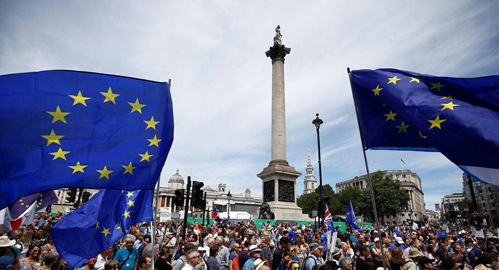Manifestación contra el Brexit en Londres (imagen referencial)
