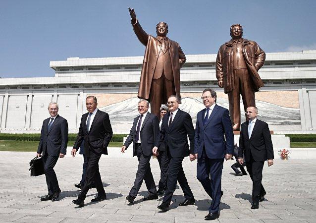 Delegación rusa en Pyongyamg, Corea del Norte (archivo)