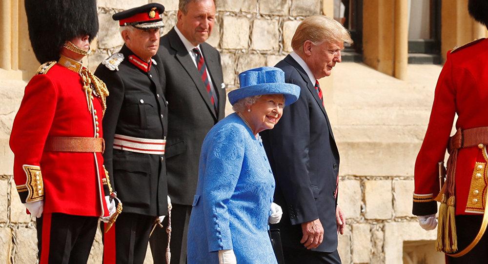 La reina Isabel II y el presidente de EEUU, Donald Trump