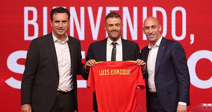 Presentación del nuevo seleccionador de España, Luis Enrique