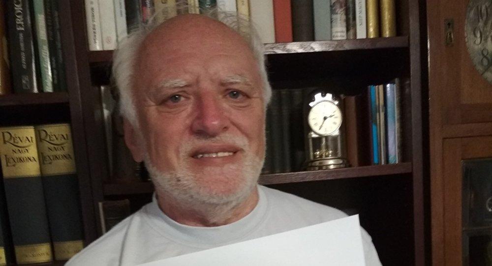 Arató András, conocido modelo anciano de origen húngaro