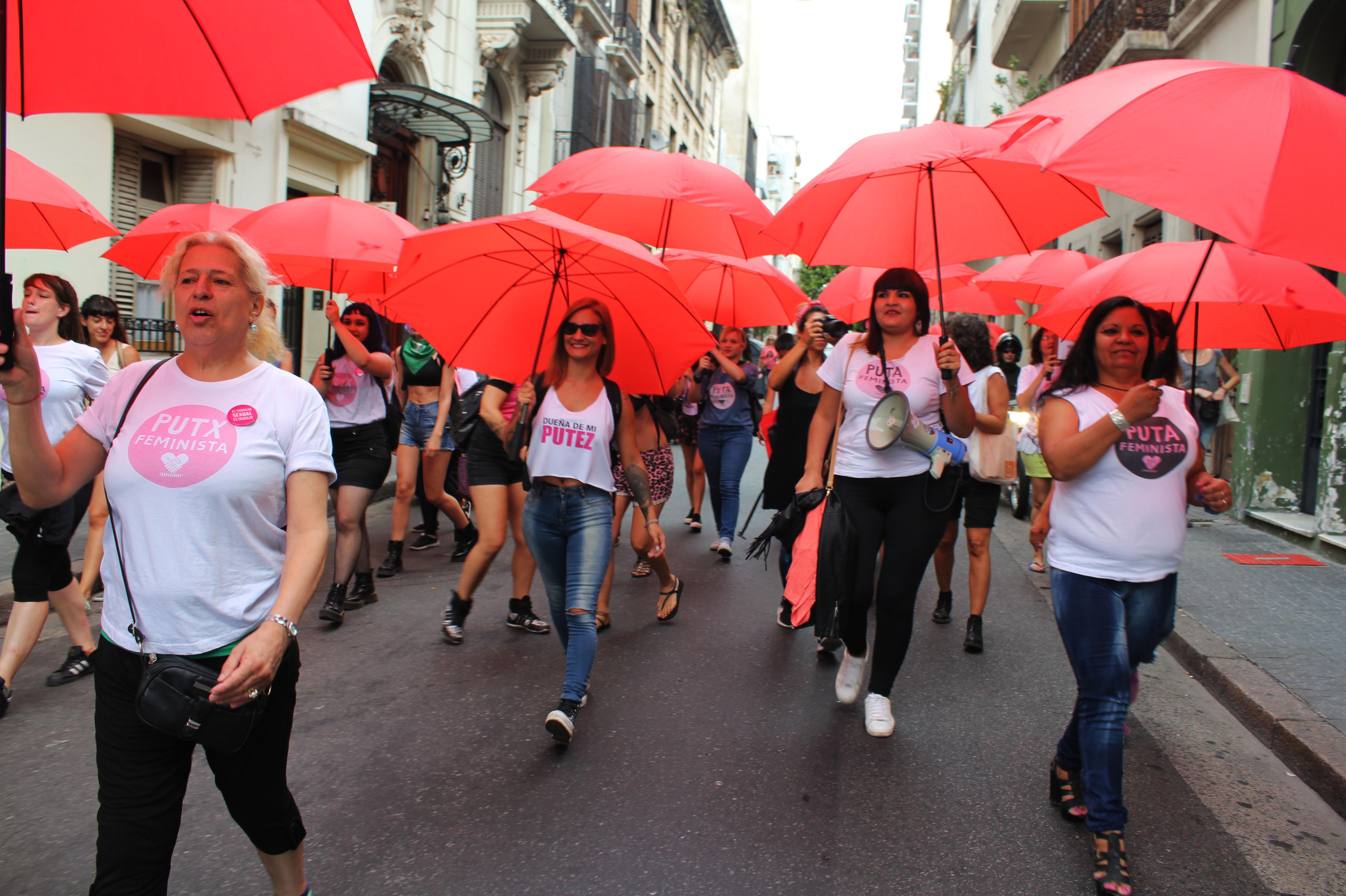Participación de Trabajadoras Sexuales en el Paro Internacional de Mujeres, Lesbianas, Travestis y Trans en Argentina.