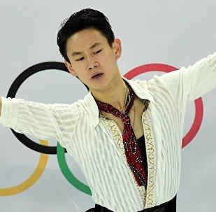 Denís Ten, medallista olímpico de patinaje artístico kazajo