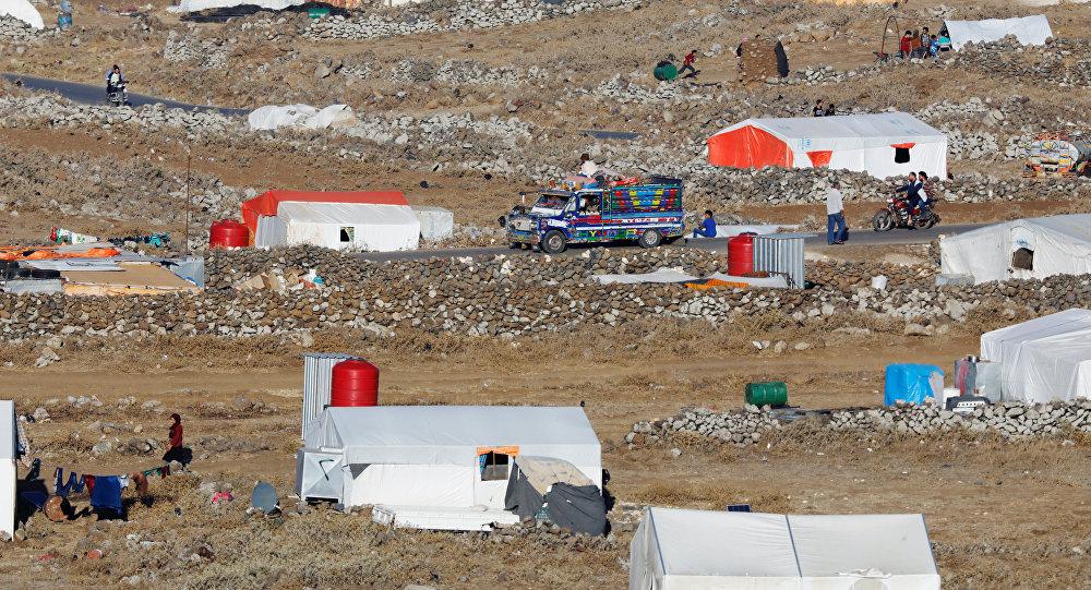 Un campo de refugiados en Siria