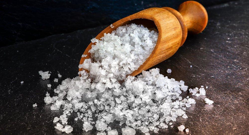 Cristales de sal marina