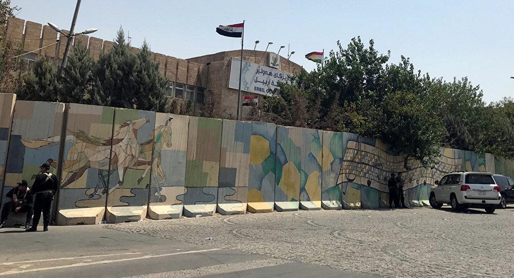 La sede del gobierno regional del Kurdistán iraquí