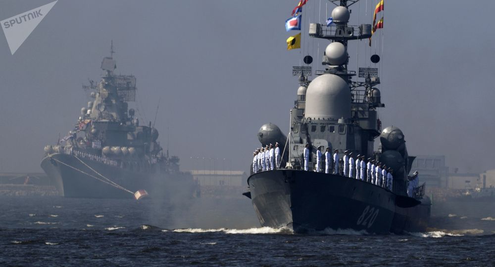 El crucero Marshal Ustinov