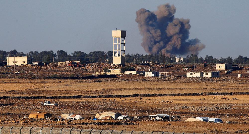 Los Altos del Golán, cerca de la frontera entre Siria e Israel