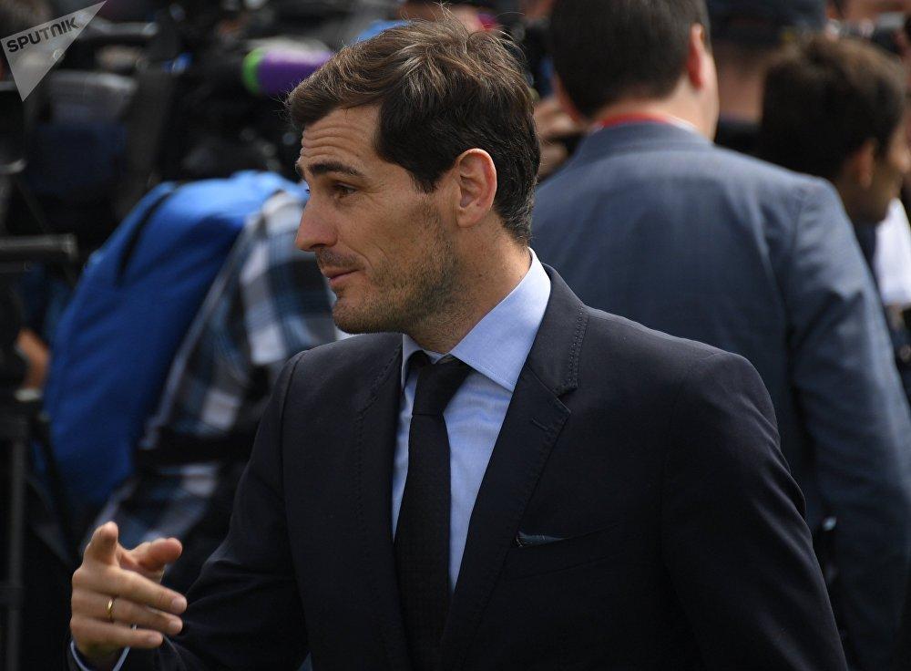 Iker Casillas en la inauguración de la Copa del Mundo Rusia 2018 en Moscú