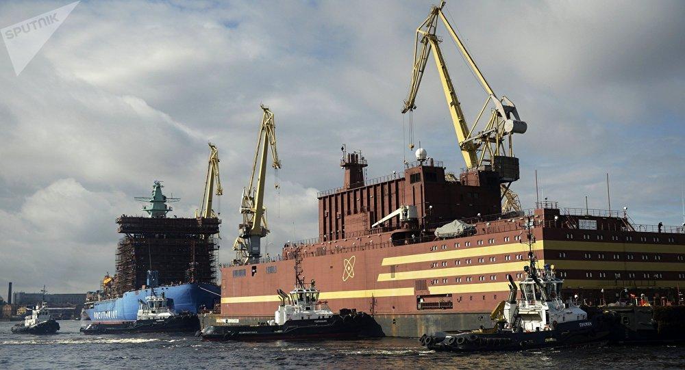 El bloque energético flotante Akademik Lomonosov