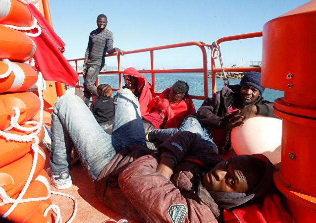 Migrantes rescatados en las costas de España