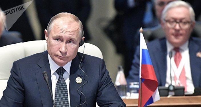 Vladímir Putin, el presidente de Rusia en la cumbre de los BRICS, Sudáfrica