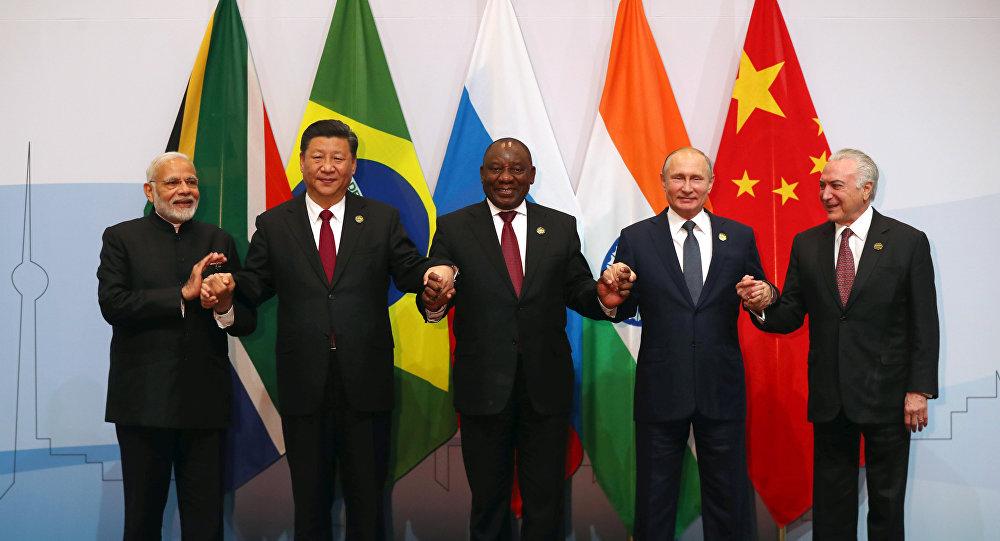 Presidentes de los países del grupo BRICS en Sudáfrica